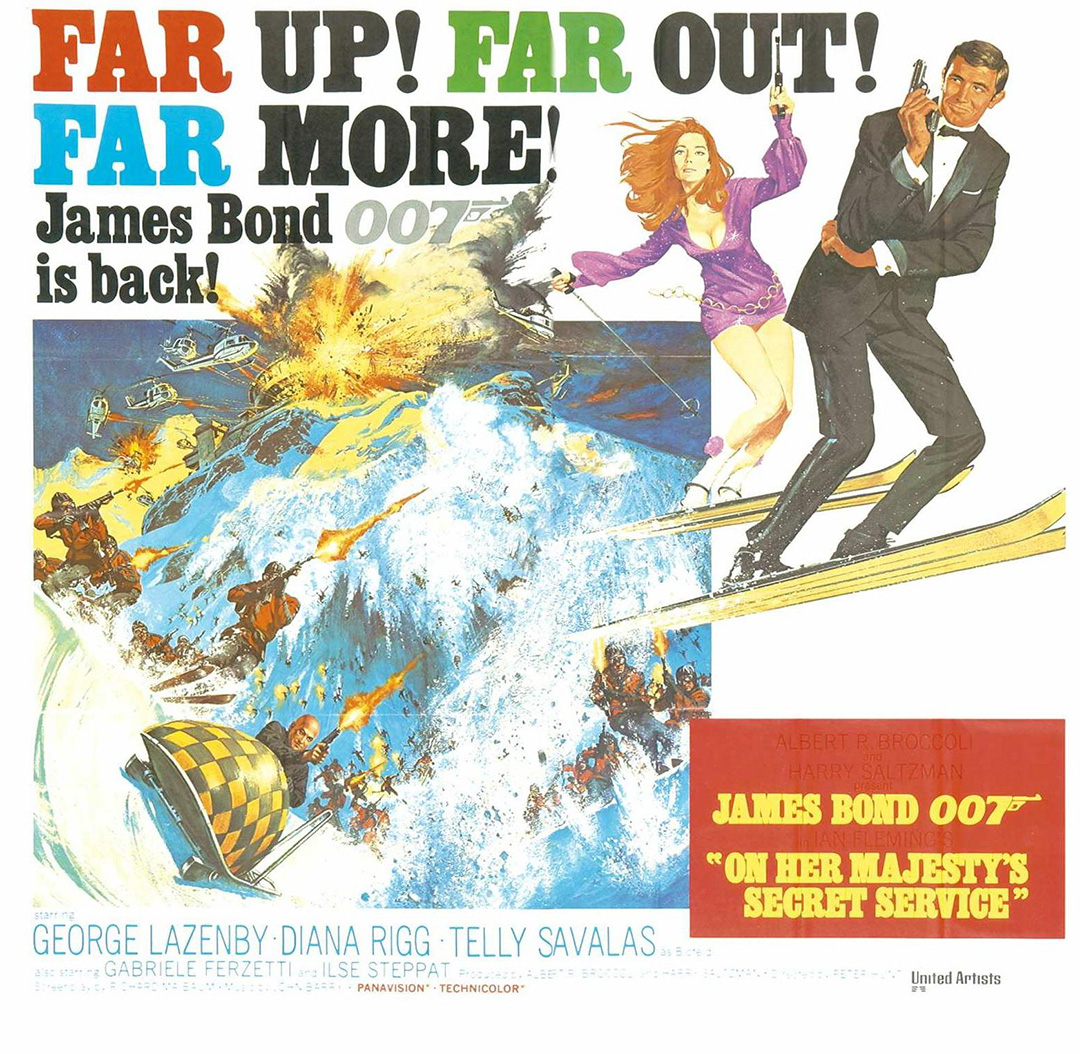 On Her Majesty's Secret Service George Lazenby poster