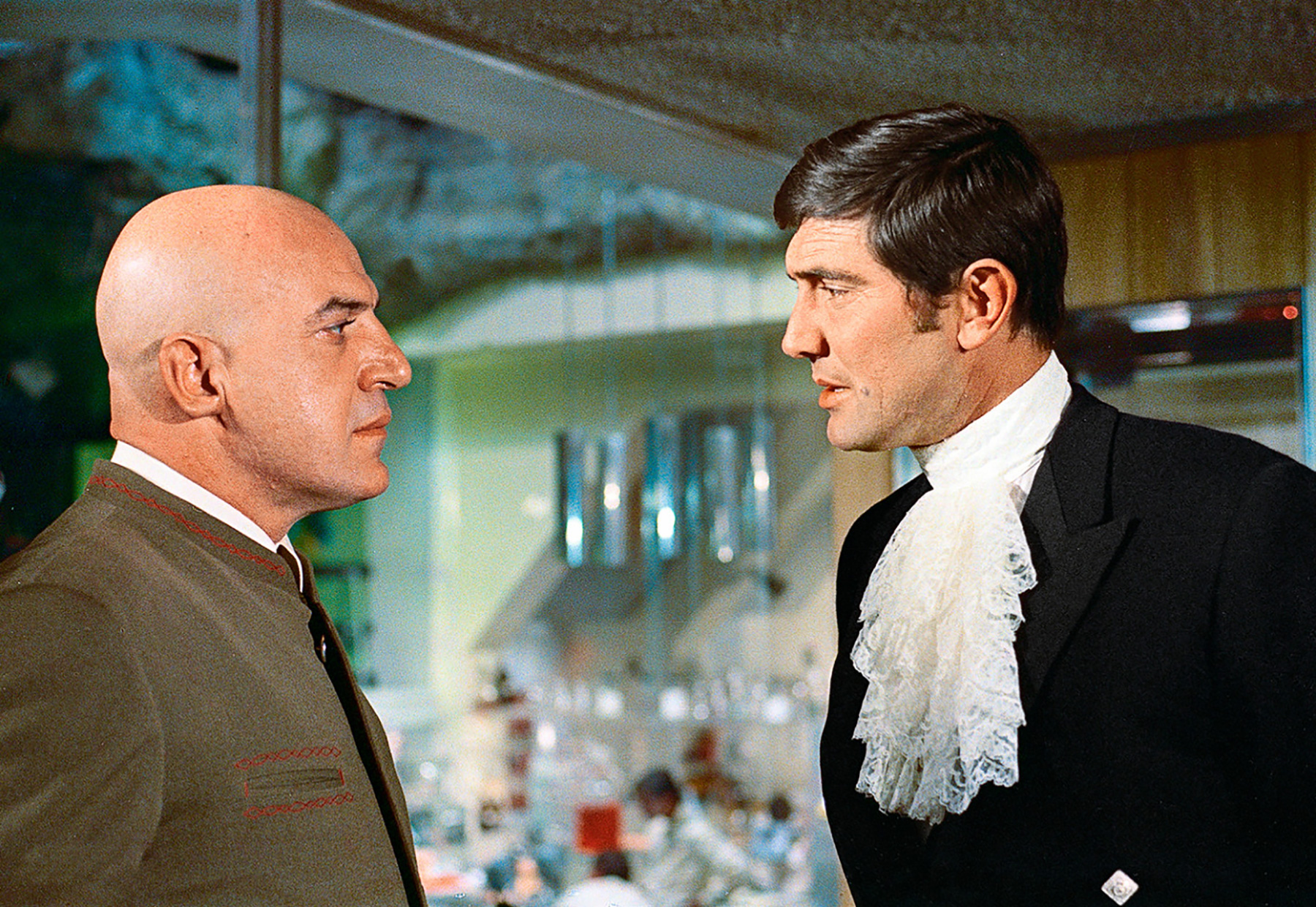 On Her Majesty's Secret Service George Lazenby Telly Savalas