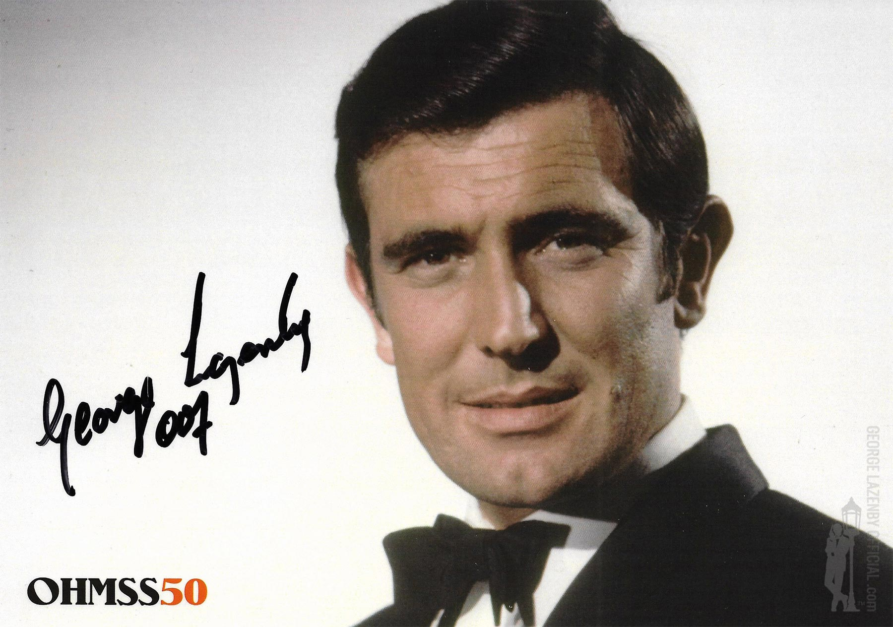 OHMSS 50 George Lazenby signed photograph GLOHMSS50-03