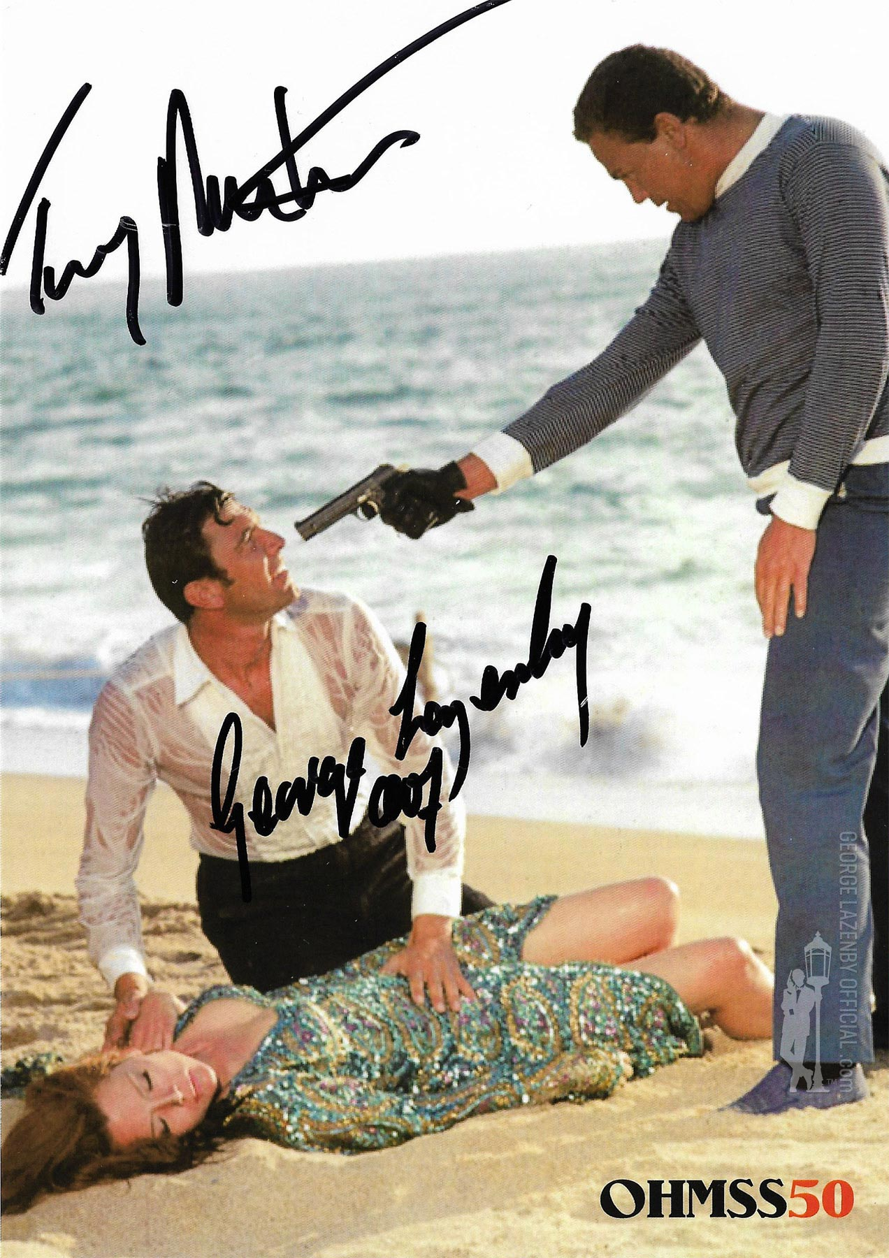 OHMSS 50 George Lazenby signed photograph GLOHMSS50-05