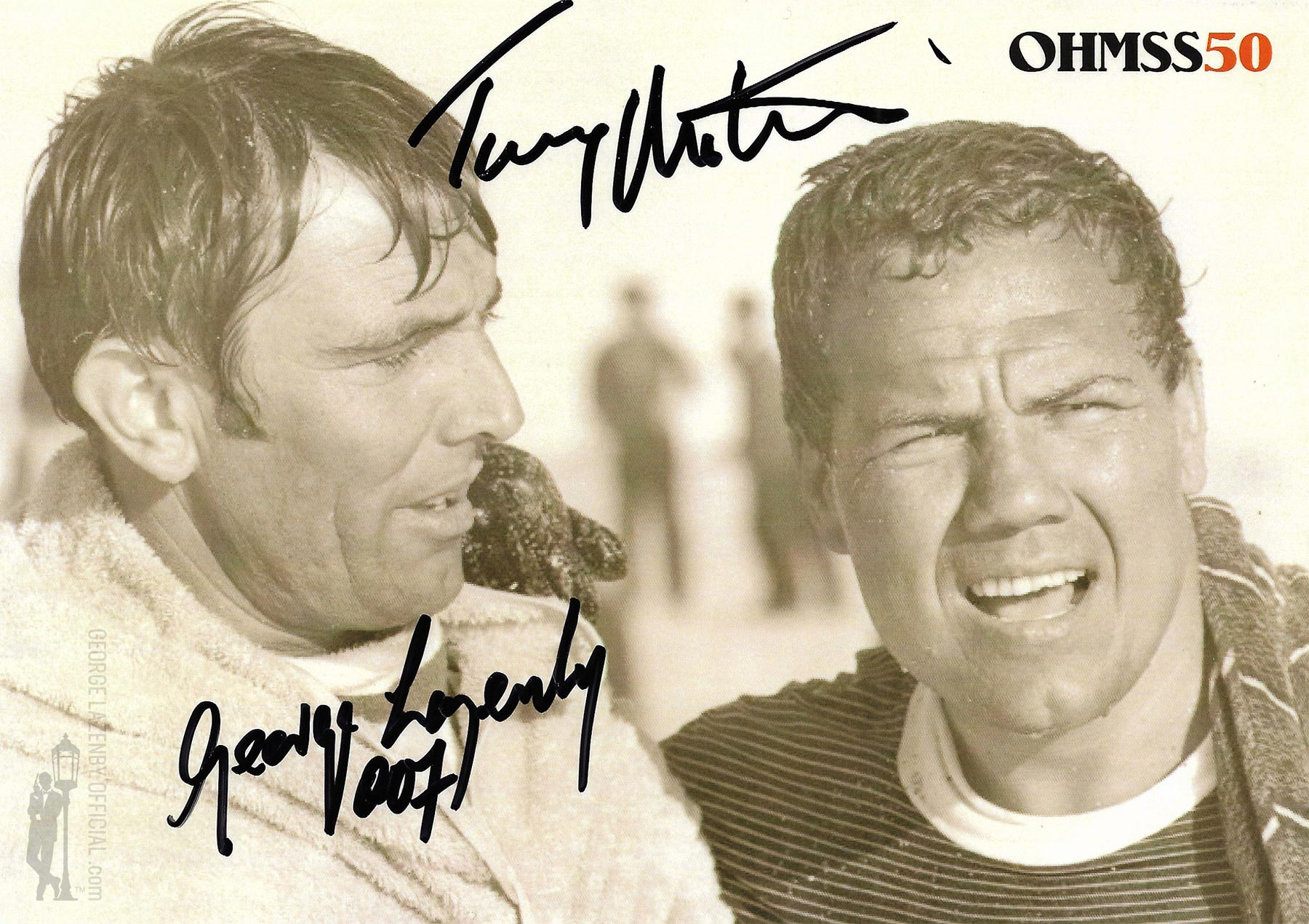 OHMSS 50 George Lazenby signed photograph GLOHMSS50-06