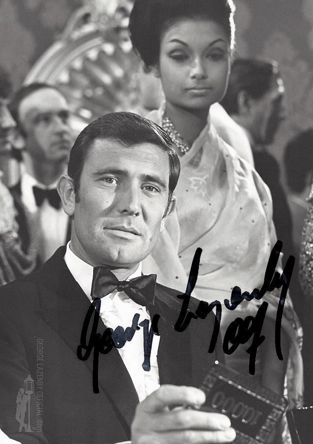 George Lazenby OHMSS autograph signature photo casino